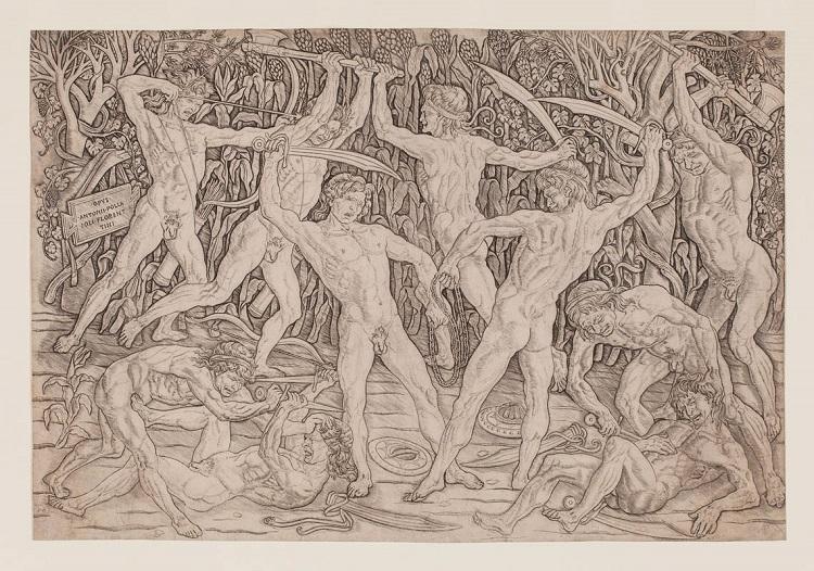 Antonio del Pollaiolo Battaglia dei dieci nudi