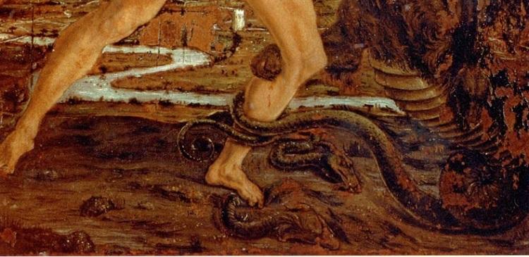Antonio del Pollaiolo Ercole e l'Idra Galleria Uffizi