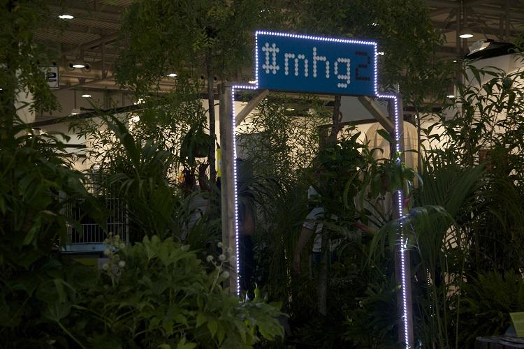 Lo stand verde, anzi verdissimo di MyHome Gallery
