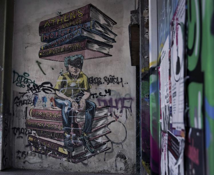 Atene, 22 giugno 2015. (AP Photo/Petros Giannakouris)