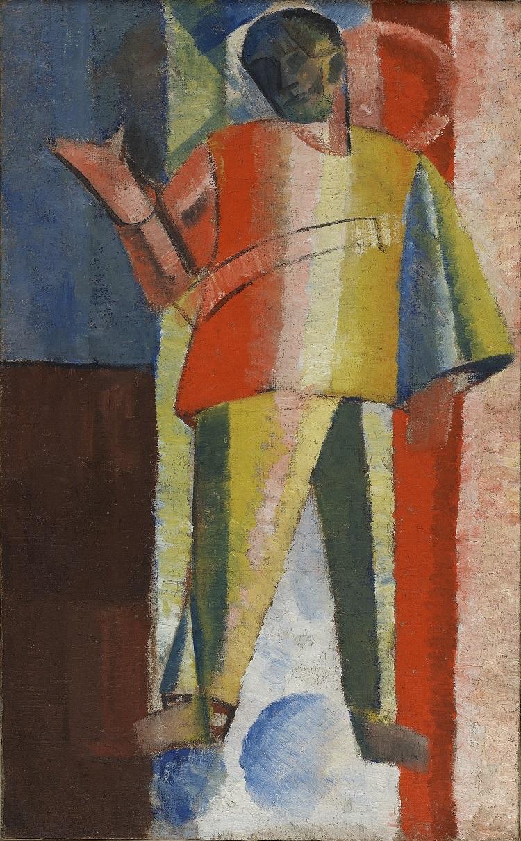 Aleksej Morgunov Figura in piedi. Pilota, 1913 Olio su tela,  72,2 x 44,2 cm Museo Statale d'Arte contemporanea di Salonicco – Collezione Costakis  ©State Museum of Contemporary Art – Costakis Collection, Thessaloniki