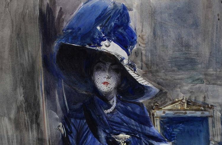 Boldini La divina in blu