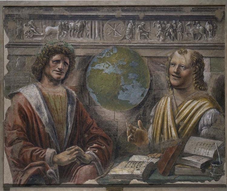 Bramante, Eraclito e Democrito