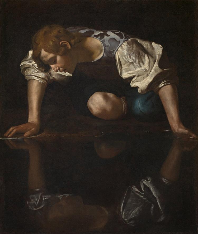 Caravaggio, Narciso, 1597-1599 circa olio su tela, cm 113 x 95 Roma, Galleria Nazionale d'Arte Antica in Palazzo Barberini