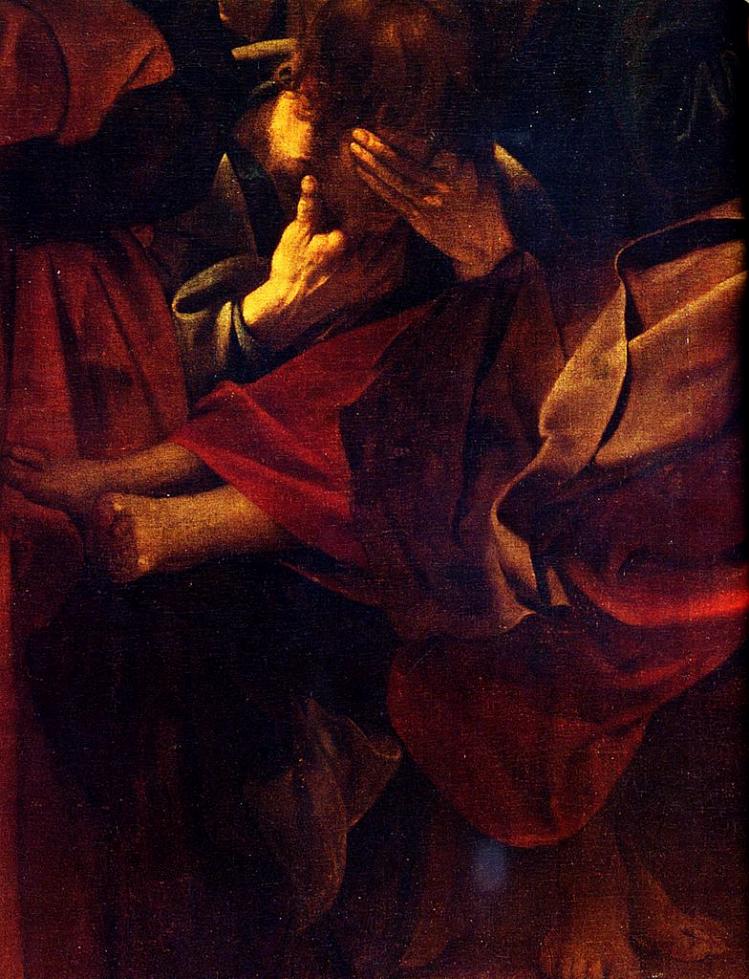 """Caravaggio """"L'estasi di San Francesco"""", 1591 ca. - Hartford, Wadsworth Atheneum Museum of Art"""