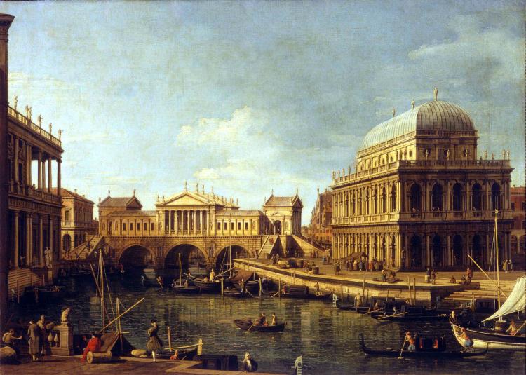Il Canal Grande con il Ponte di Rialto | Canaletto | Galleria Nazionale Parma