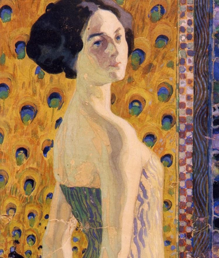 """Giovanni Vianello (Padova, 1873 – 1926) """"Giovane donna di spalle"""""""