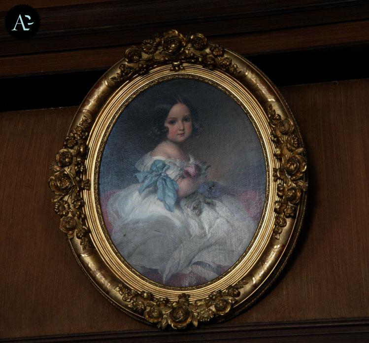 """Franz Xavier Winterhalter """"Carlotta del Belgio da bambina"""", 1842. Castello di Miramare, Trieste."""