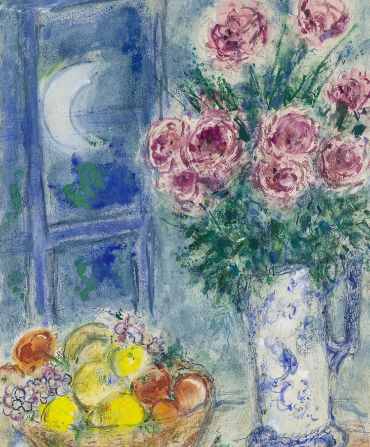 Still Life with Fruit and Flowers | Marc Chagall | mostre Catania