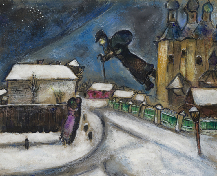 Over Vitebsk | Marc Chagall | mostre Catania