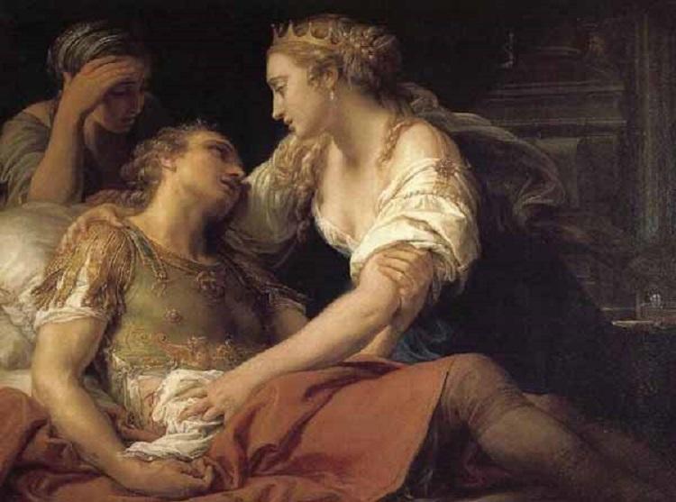 Cleopatra e Marco Antonio morente (opera di Pompeo Batoni)