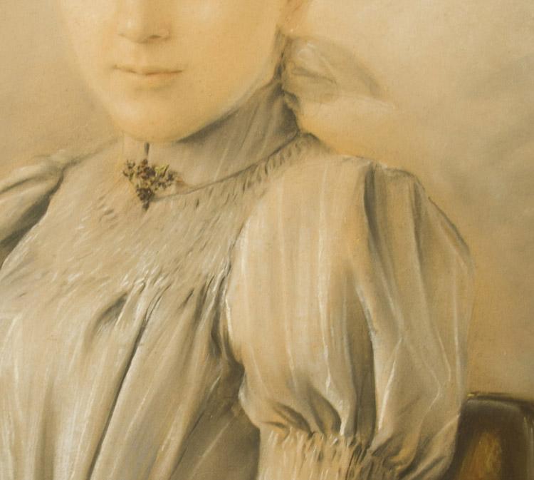 Ernst Klimt. Helene Klimt-1891. coll. Privata (dettaglio)