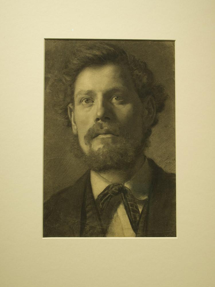"""Gustav Klimt, """"Testa d'Uomo"""", 1879"""