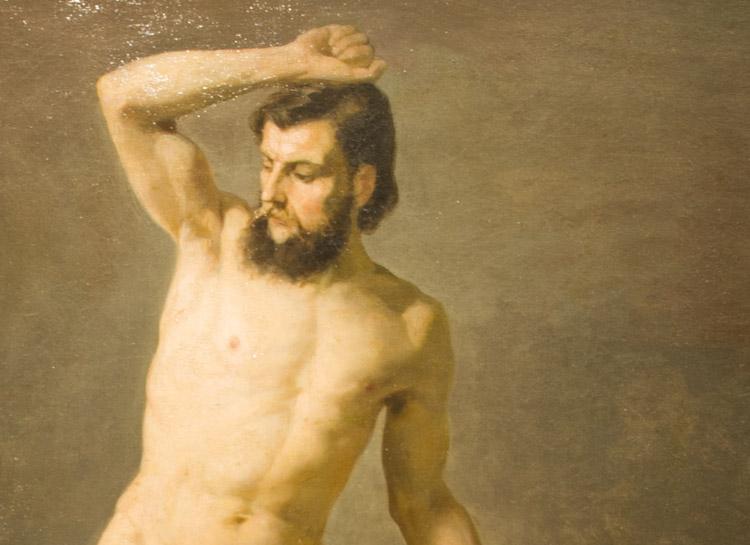 Gustav Klimt. Nudo Maschile, 1883 c.a (dettaglio) - Vienna Belvedere