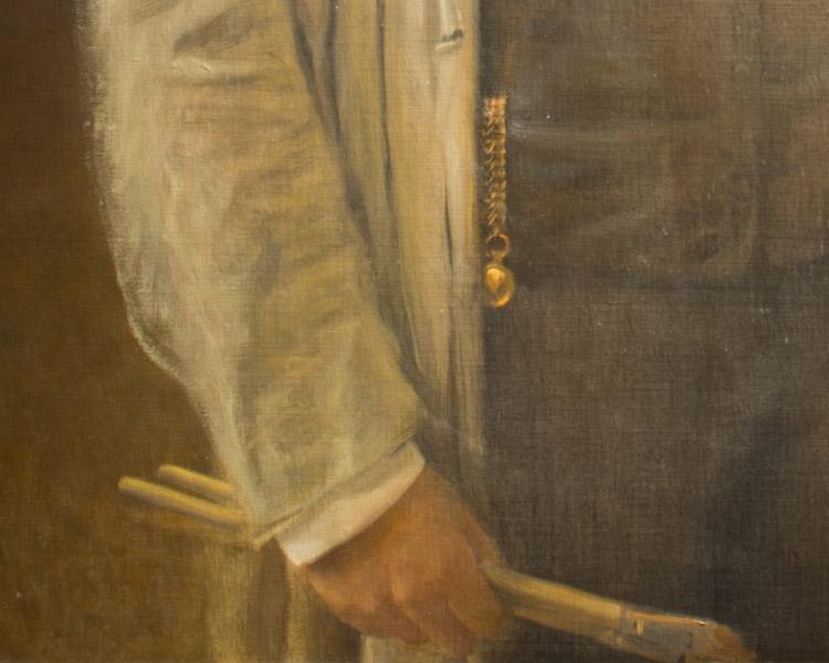 """Franz Matsch, """"Autoritratto"""", 1904 (dettaglio). Vienna , Belvedere"""