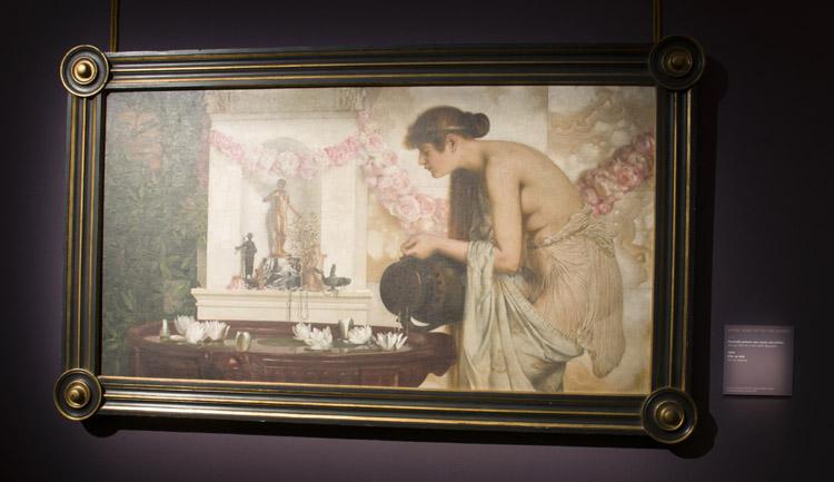 """Anton Josef Ritter von Kenner, """"Fanciulla presso una vasca con Ninfee""""1893 (Vienna, Univeristat fur angewandte Kunst)"""
