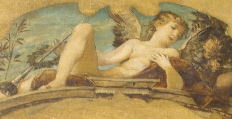 Ernst Klimt. Bozzetto di Lunetta, 1885 circa (dettaglio)