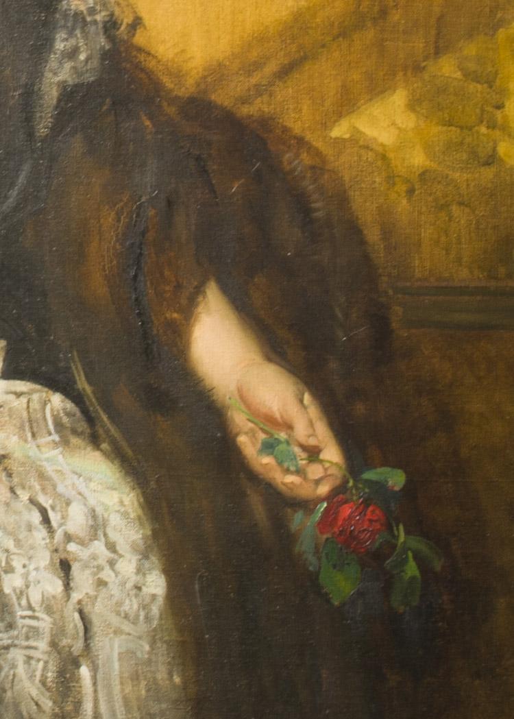 Eduard Veith. Ida von Gutmann. 1899 circa (dettaglio)