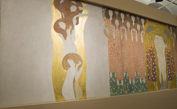 Gustav Klimt, Fregio di Beethoven, ricostruzione 1985 (dettaglio). Vienna, Belvedere