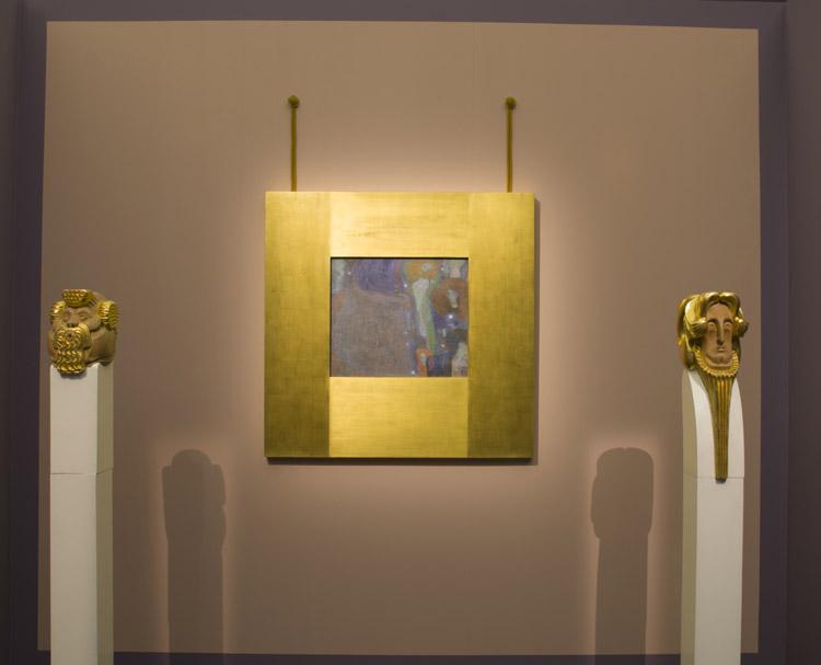 """Gustav Klimt, """"Fuochi Fatui"""". 1903 (allestimento in mostra)"""