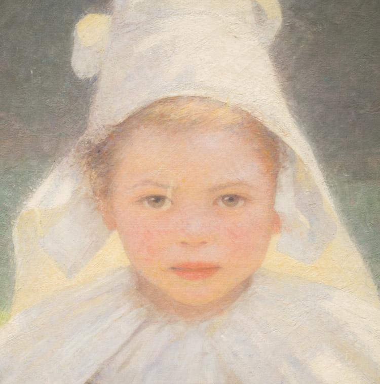 "Ludwig Ferdinand Graf, ""Studio di testa (ragazza Bretone)"", 1893. Vienna, Belvedere"