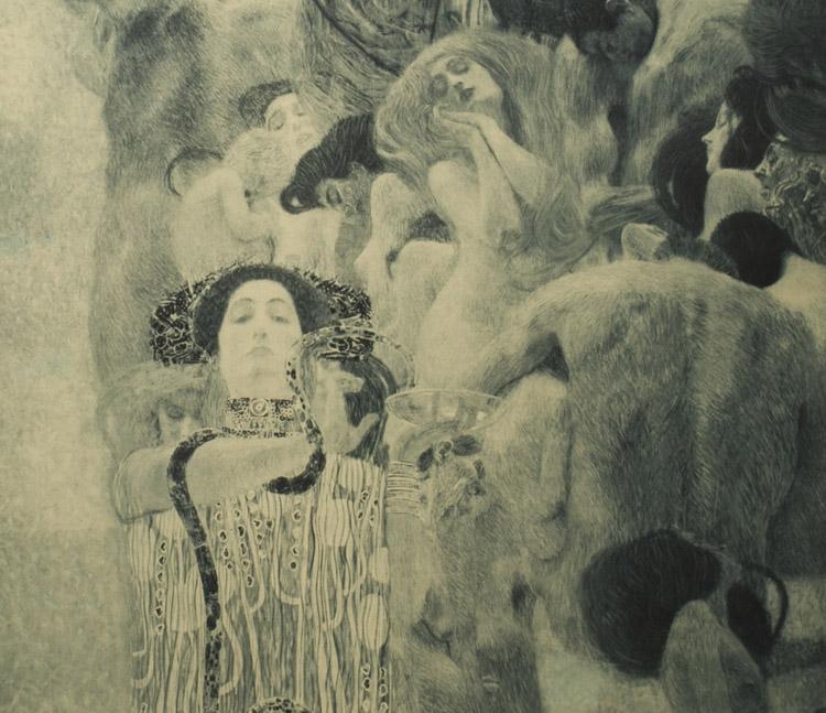 Gustav Klimt. La Medicina (dettaglio)