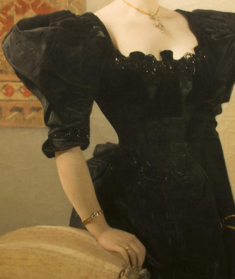 Gustav Klimt. Ritratto Femminile. 1894 circa (dettaglio)