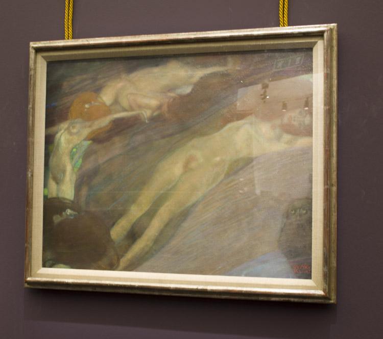 "Gustav Klimt, ""Acqua in movimento"", 1898."