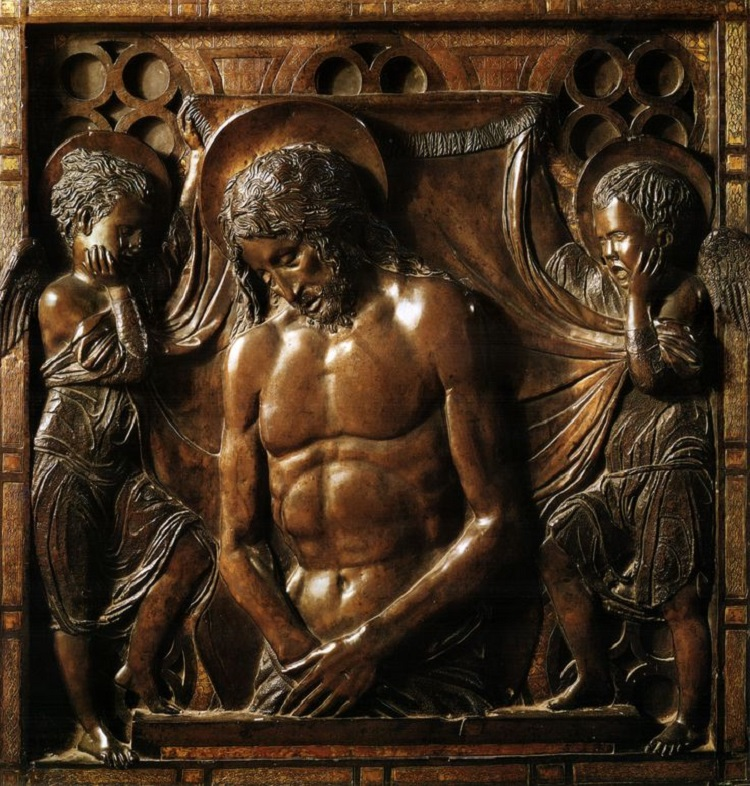 Donatello Cristo morto tra due angeli Basilica di Sant'Antonio. Padova