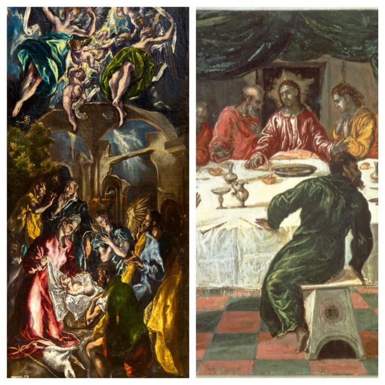 adorazione dei pastori e battesimo di cristo | el greco | mostre a treviso