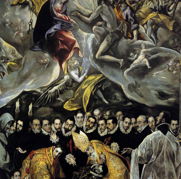 "Dominikos Theotokopoulos detto El Greco (1541 – 1614) ""The burial of the Count of Orgaz/Sepoltura del Conte di Orgaz"" (1586), Chiesa di Santo Tomé, Toledo"