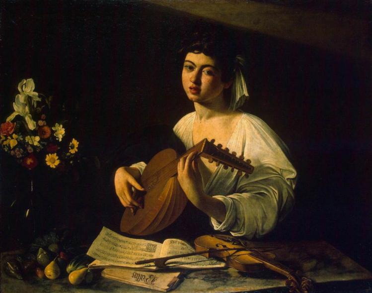 """Michelangelo Merisi da Caravaggio """"Suonatore di Liuto"""" - Ermitage (1596 circa)"""