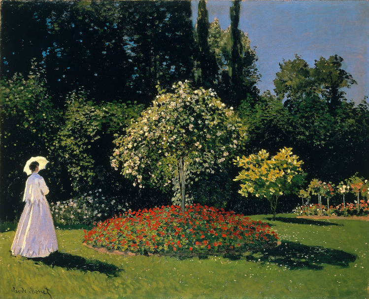 Claude Monet | Signora in giardino a Sainte Adresse |Ermitage | mostre Torino
