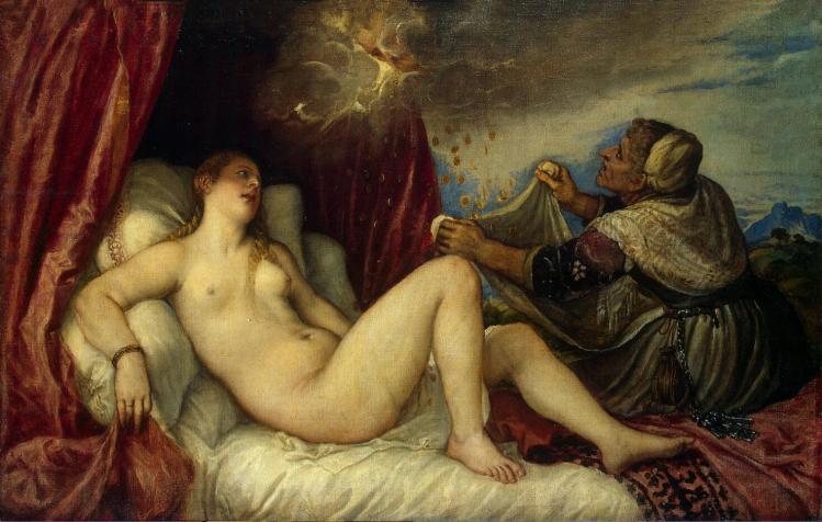 """Tiziano Vecellio """"Danae""""(1554 circa) - Ermitage"""