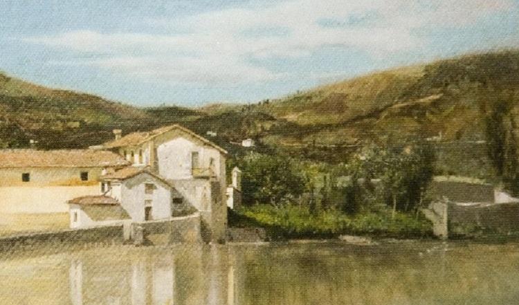 FILIPPO LIARDO, Veduta dell'Arno a Firenze, dettaglio