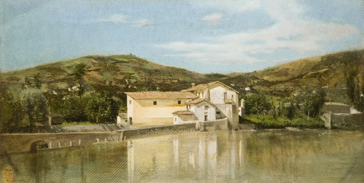 FILIPPO LIARDO, Veduta dell'Arno a Firenze