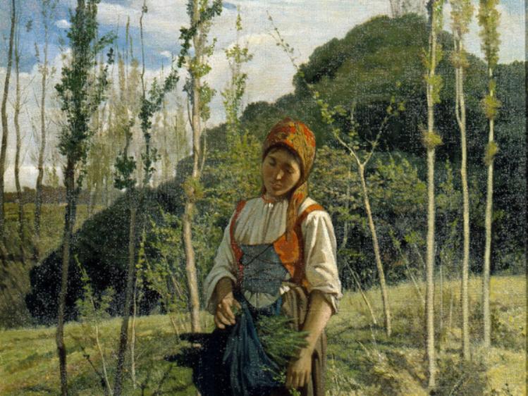 La boscaiola   Giovanni Fattori   mostre Padova