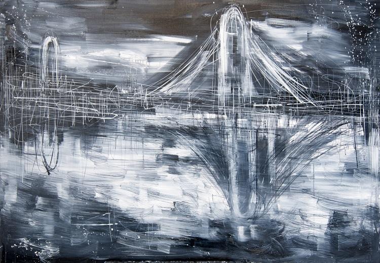 Ponte, 2014, olio su tela, cm. 90x120