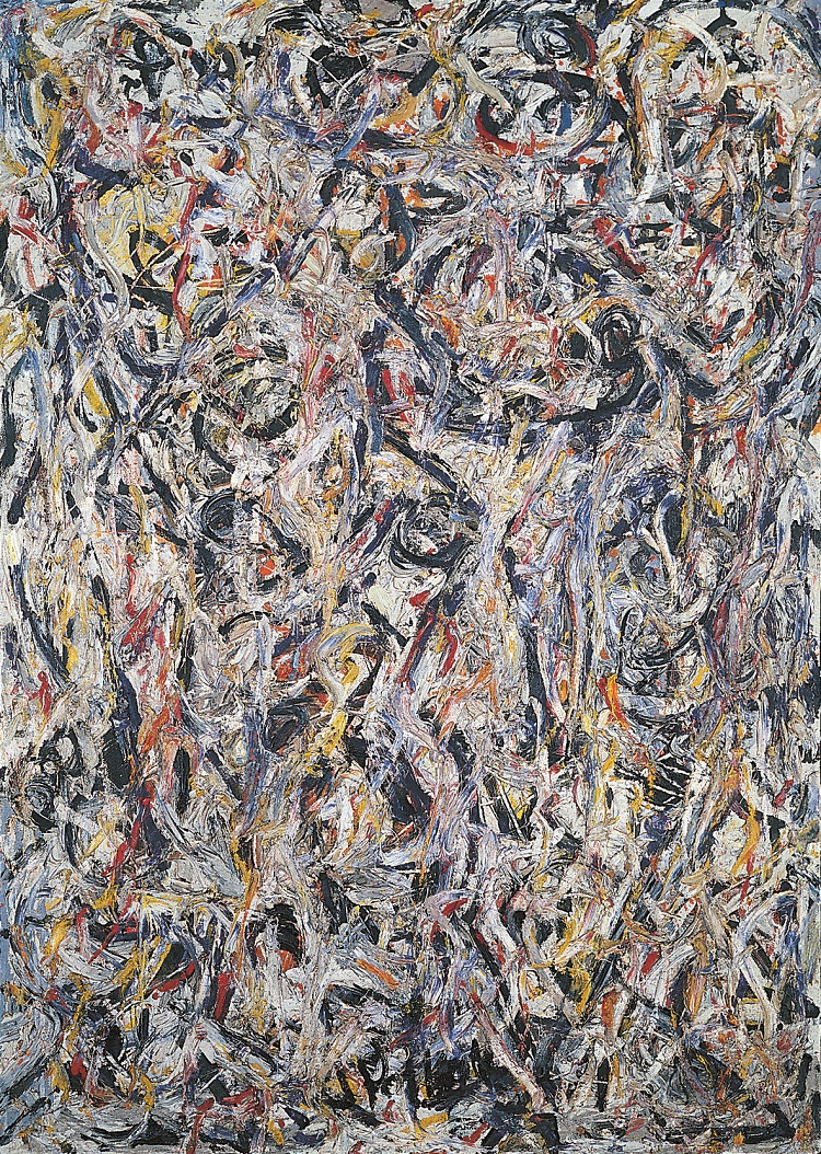 Jackson Pollock . Earth Worms, 1946  olio su tela . Tel Aviv Museum of Art Collection, dono di Peggy Guggenheim, Venezia attraverso l'American-Israel Cultural Foundation, 1954