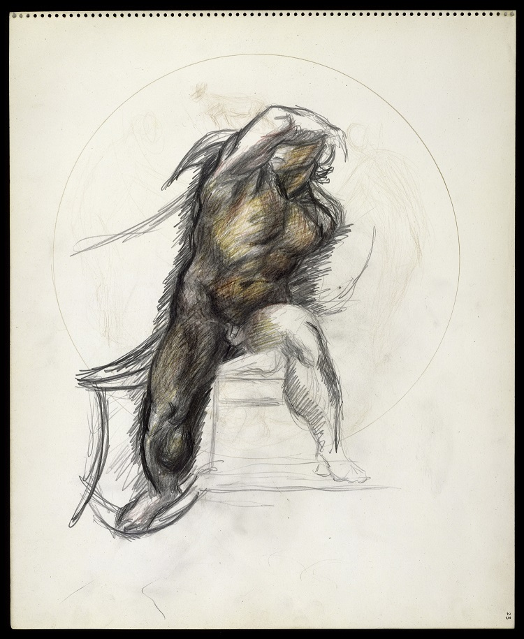 Jackson Pollock,  Senza titolo, 1937-1939,  matite colorate e grafite su carta  The Metropolitan Museum of Art, New York