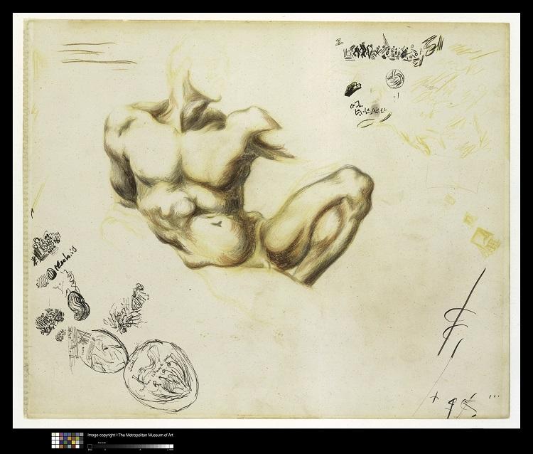 Jackson Pollock Senza titolo, 1937-1939 matite colorate, grafite, penna e inchiostro di china su carta  The Metropolitan Museum of Art, New York