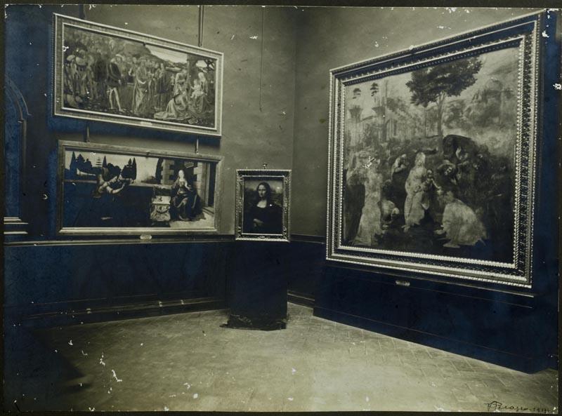 Fotografia raffigurante la Sala di Leonardo agli Uffizi