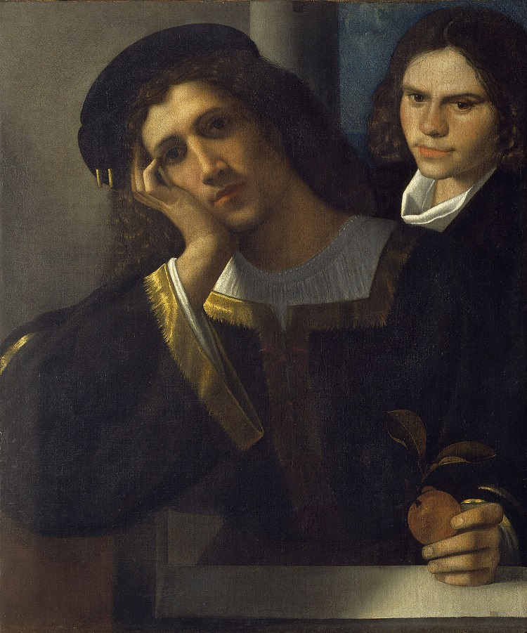 """Giorgione """"Doppio Ritratto"""" 1502 ca. - Roma, Museo Nazionale di Palazzo Vecchio"""