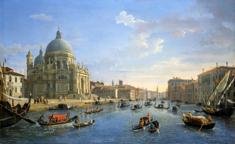Canal Grande con la chiesa della Salute | Gaspar Van Witten | Galleria Colonna Roma