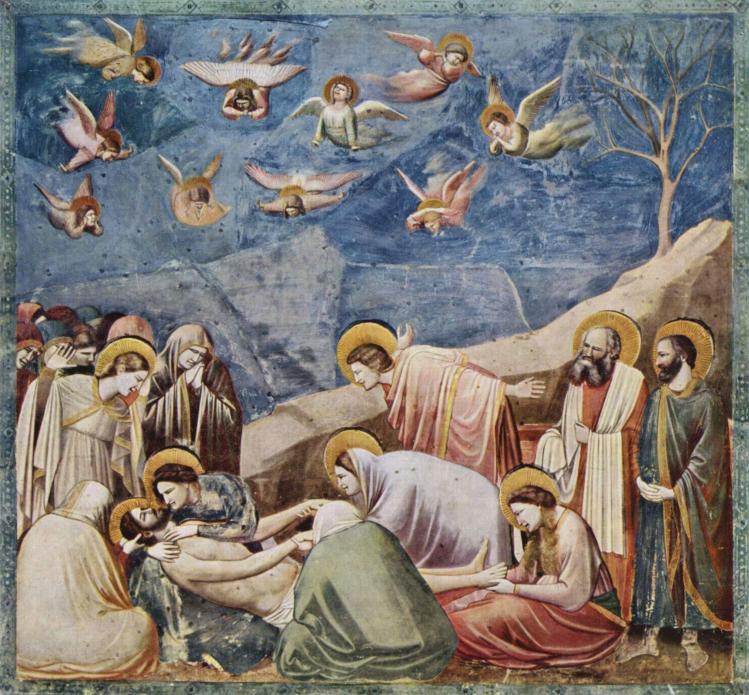 Compianto sul Cristo morto - Cappella degli Scrovegni, Padova.