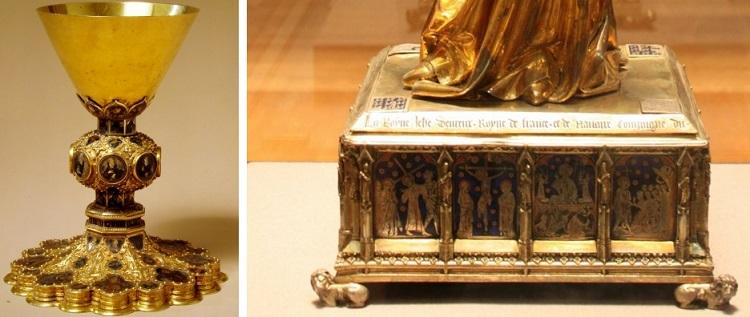 A confronto con il Calice di Guccio di Mannaia.