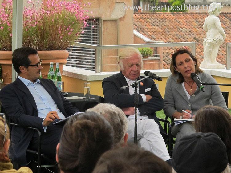 Heinz Mack in Guggenheim durante la presentazione della mostra
