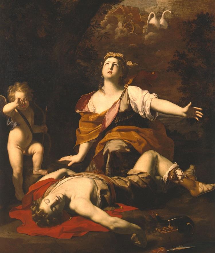 Michele Desubleo, Venere piange Adone, 1650 circa (Pinacoteca Nazionale di Bologna) Olio su tela, cm 221x163,5, inv. 197