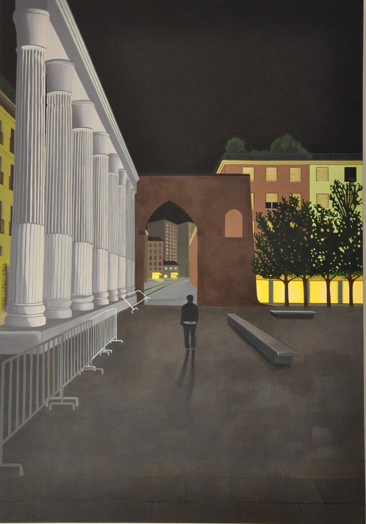 Into_the_night,_acrylic_on_canvas,_100_x_70_cm,_2014