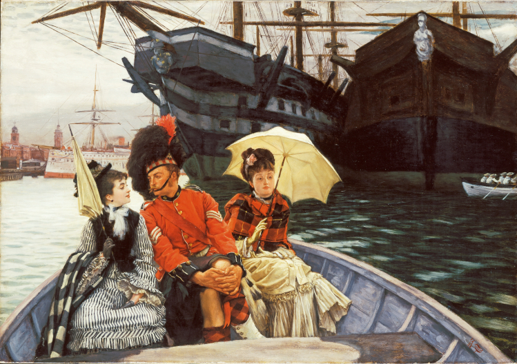 Portsmouth Dockyard 1877 | James Tissot | mostre Roma